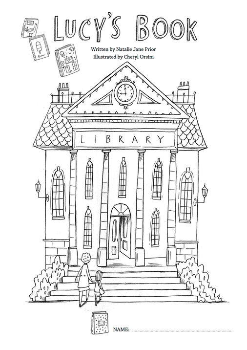 Lucy's Book Colouring Page 1