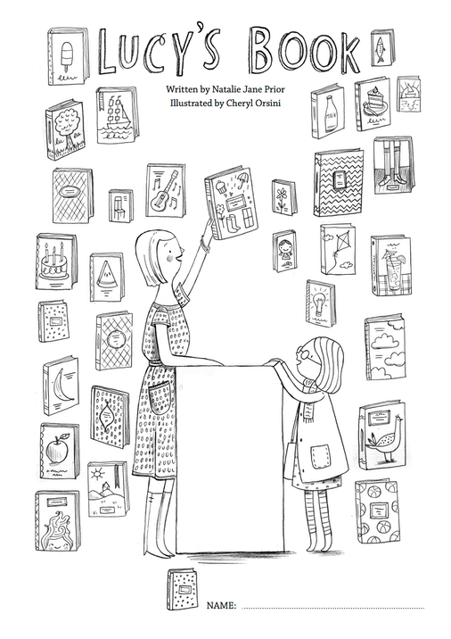 Lucy's Book Colouring Page